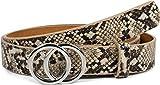 styleBREAKER cinturón de mujer con motivo de serpiente y hebilla de anillo,...
